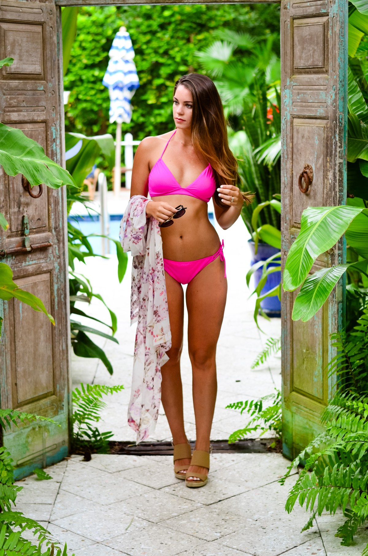 Pink Swimsuit at parrot key-8