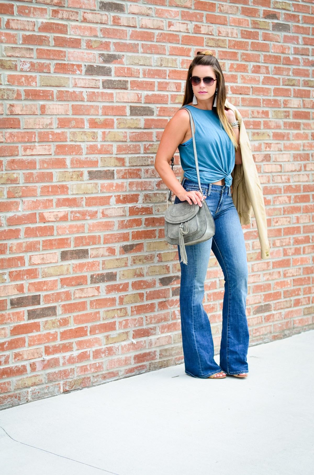 flare jeans blue tank -16