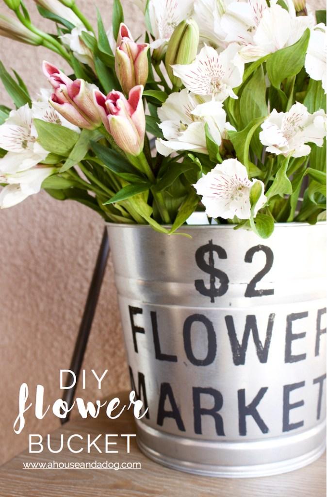 diy flower bucket