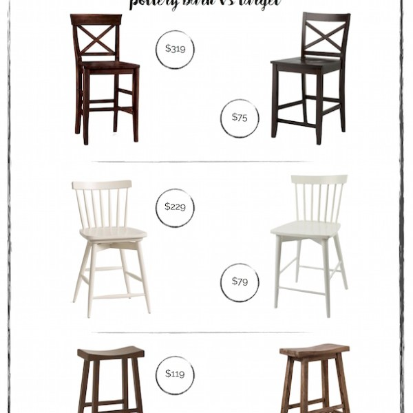 Kitchen stools - splurge or save with these version from Pottery Barn & Target!
