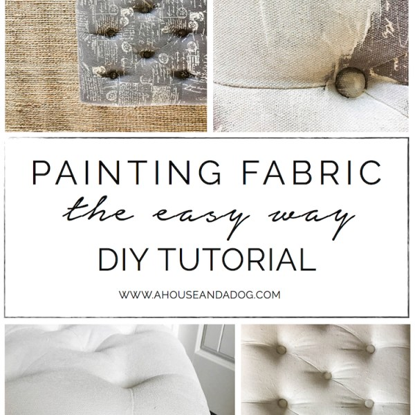 Painting Fabric, the Easy Way - DIY Tutorial | ahouseandadog.com
