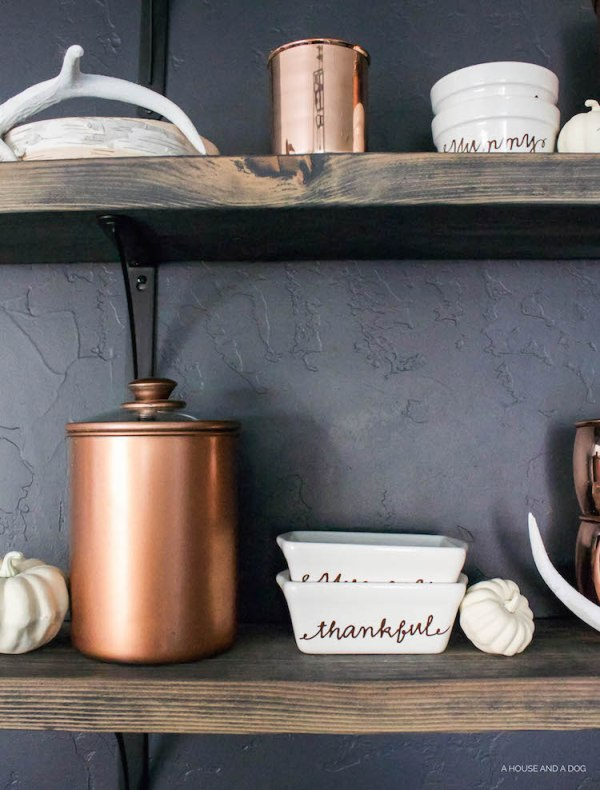 DIY Canister Makeover - Falling for Copper