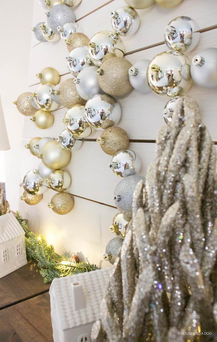 DIY Snowflake Ornament Display with The Home Depot | Christmas DIY | helloallisonblog.com