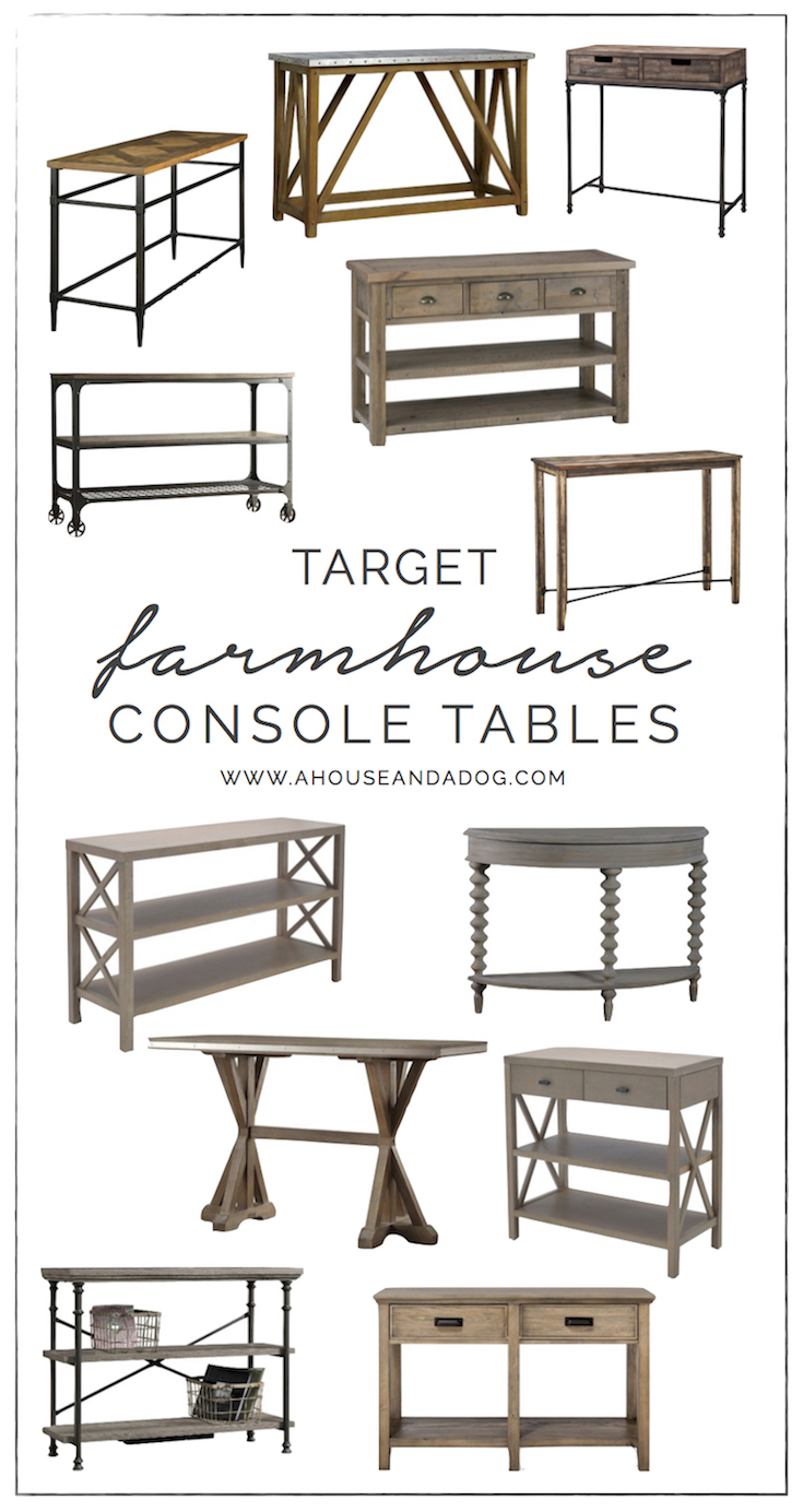 Favorite Farmhouse Console Tables from Target | ahouseandadog.com