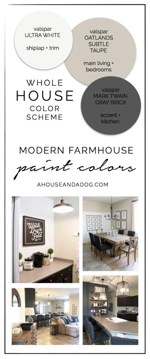 Whole House Color Scheme - Modern Farmhouse Paint Colors | helloallisonblog.com