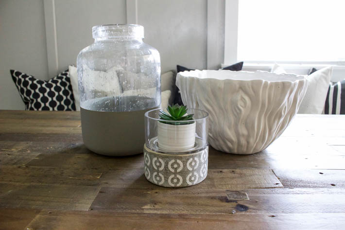 DIY Modern Painted Glass Jar | helloALLISONblog.com