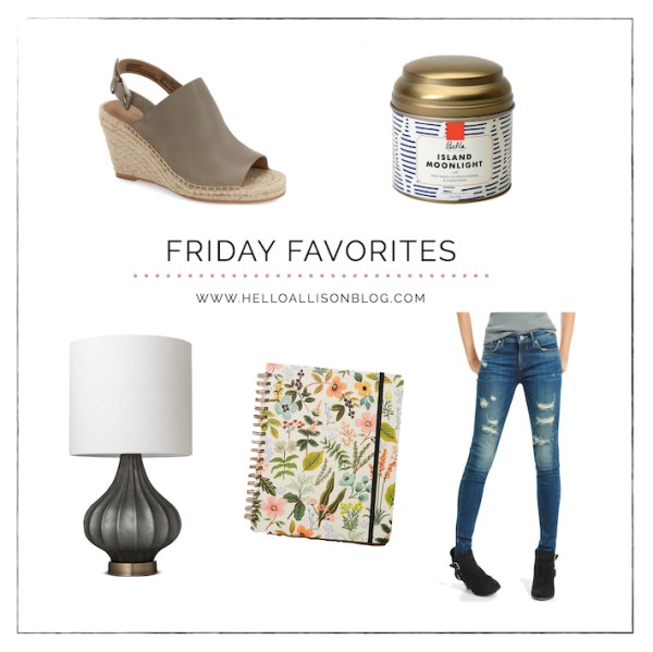 Friday Favorites 011 | helloallisonblog.com