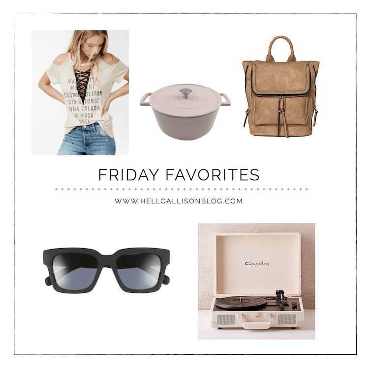 Friday Favorites 013 | helloallisonblog.com