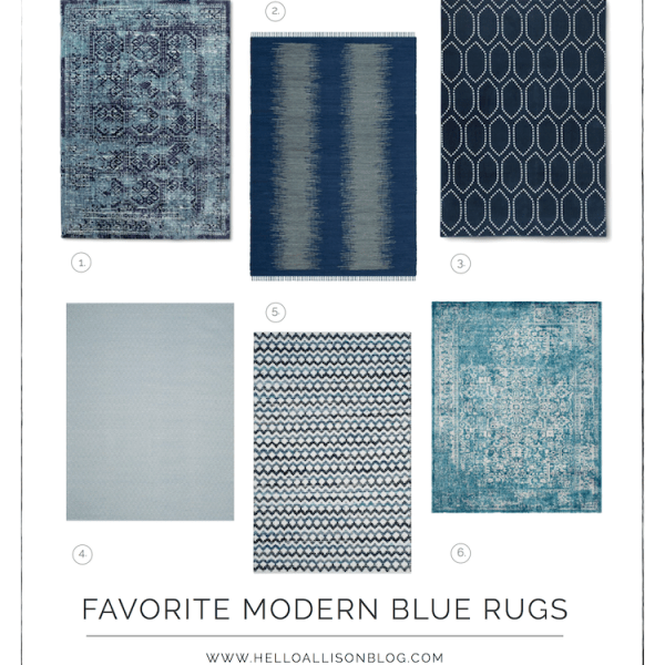 Modern Blue Rugs | helloallisonblog.com