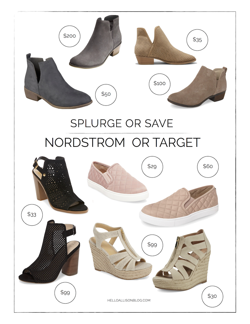 Splurge or Save - Nordstrom or Target | Popular Fall Shoes | helloallisonblog.com