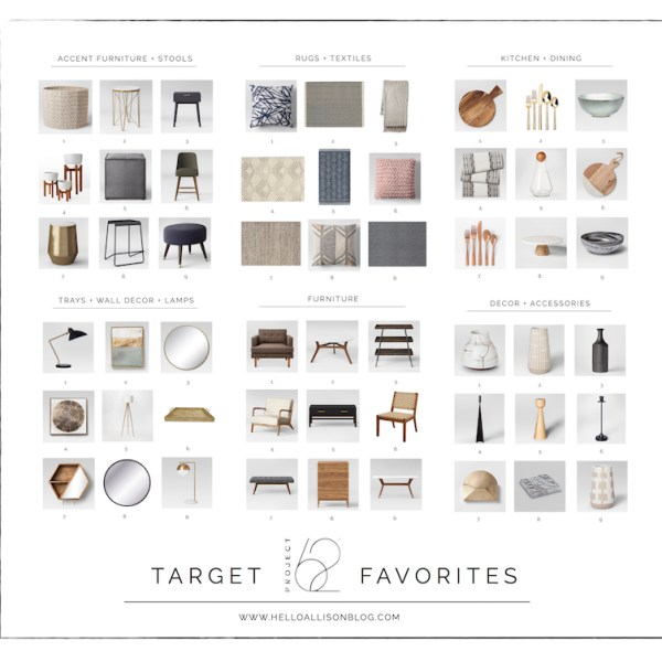 Target's Project 62 Favorites - Target Thursday | helloallisonblog.com