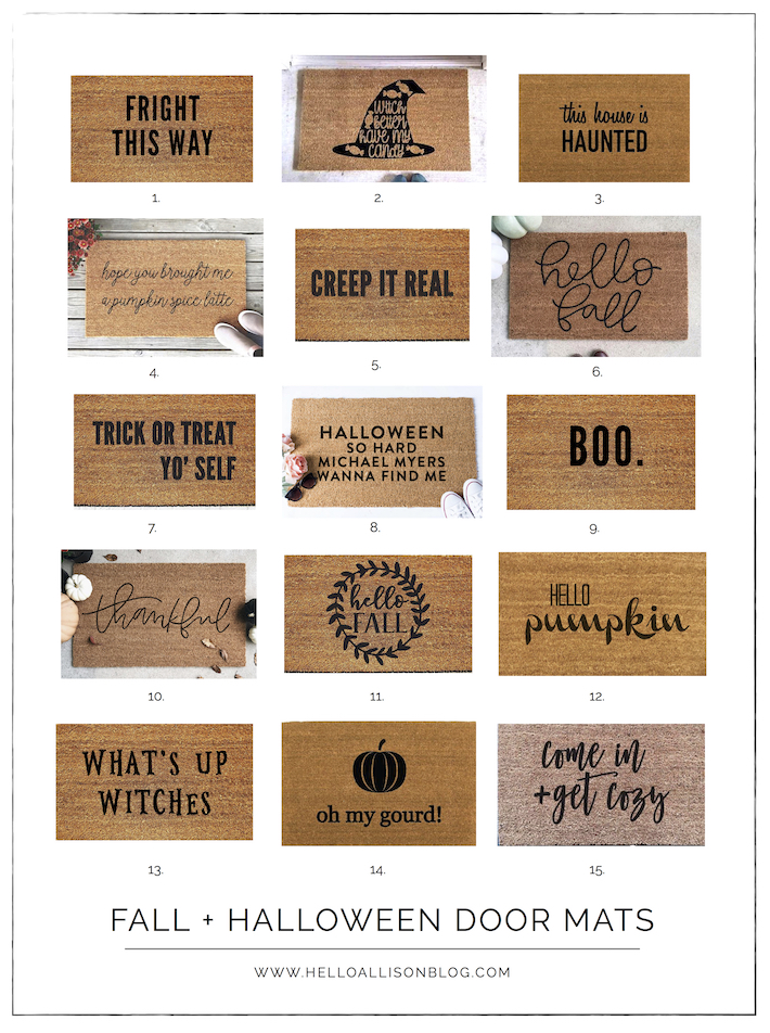 Favorite Fall and Halloween Doormats | helloallisonblog.com