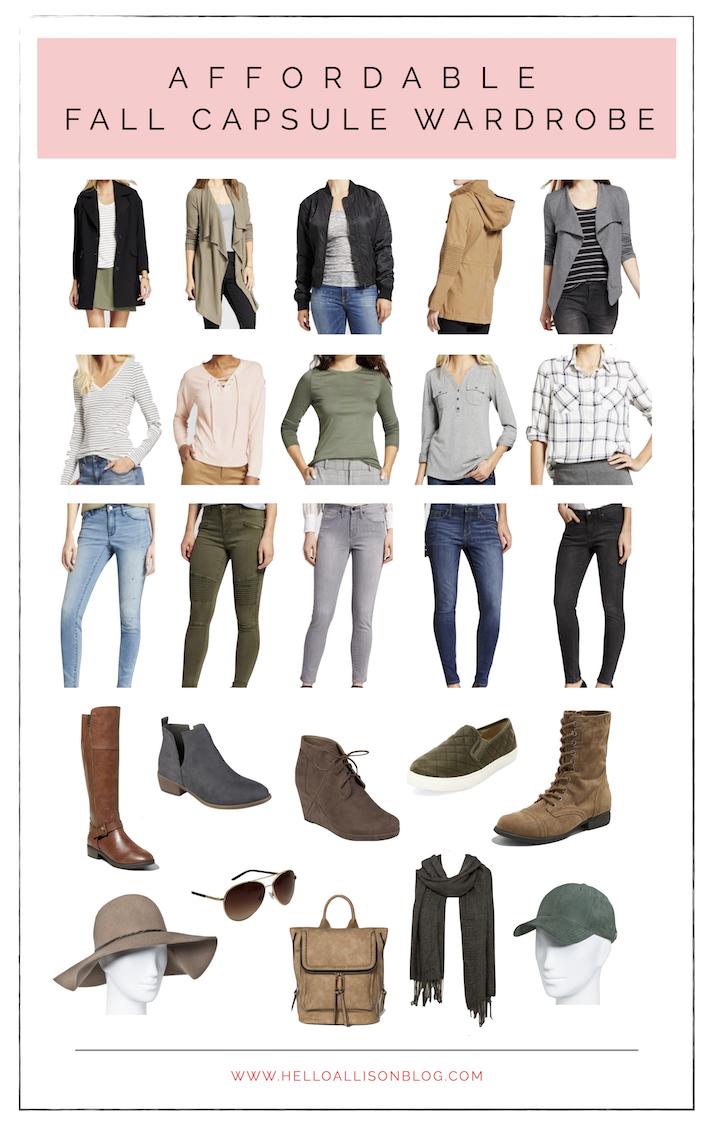 Fall Capsule Wardrobe | helloallisonblog.com