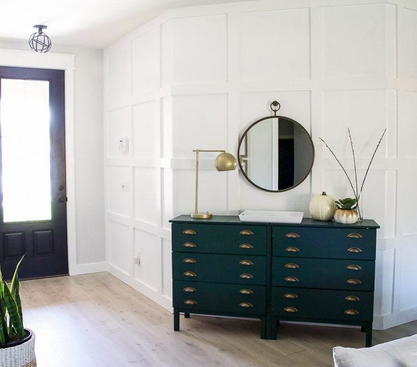 DIY Paneled Wall for Less Than $80 | helloallisonblog.com