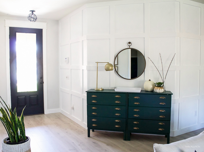 Painted Ikea Dresser - Entryway Console Table | helloallisonblog.com