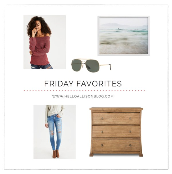 Friday Favorites 018 | helloallisonblog.com