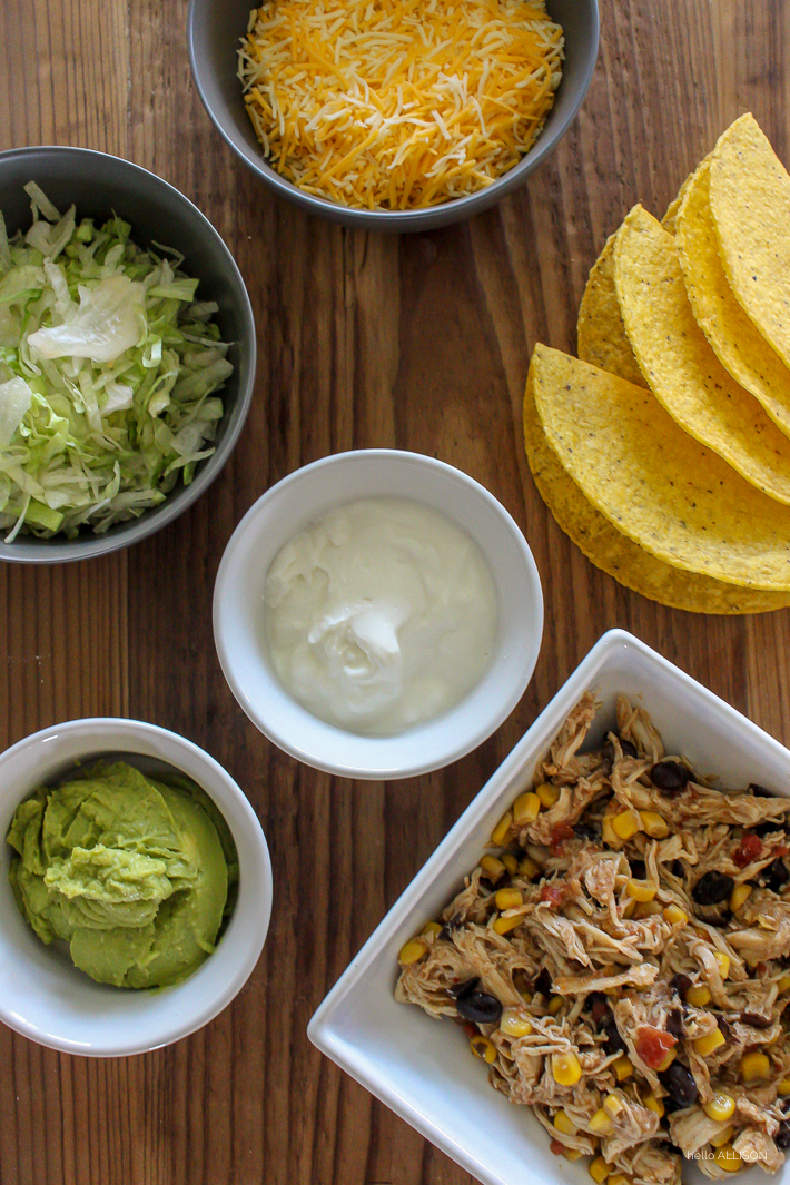 Easy Chicken Tacos from the Crockpot! | helloallisonblog.com