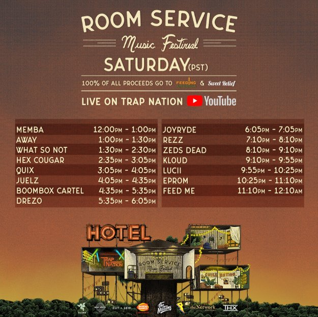 Room Service Festival Timetable Trap Nation