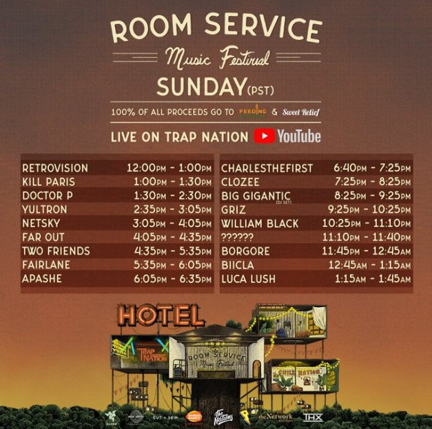Room Service Festival Sunday Trap Nation