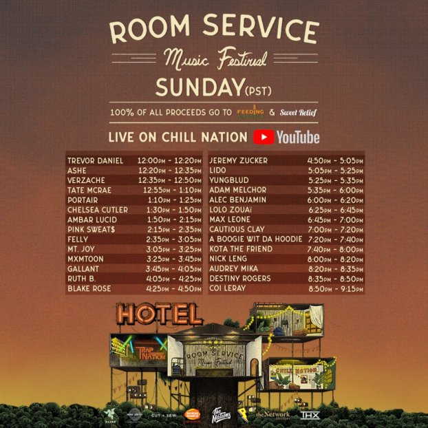 Room Service Festival Timetable Sunday