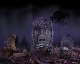 Grave scene