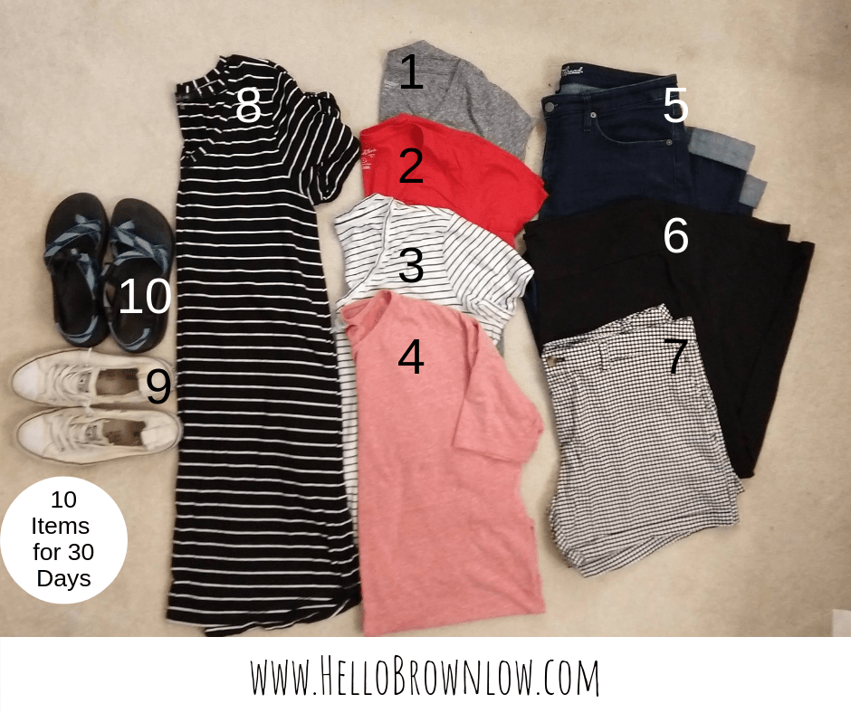 10 Items for 30 Days Capsule Wardrobe Challenge  #capsulewardrobe #10x30 #capsulewardrobechallenge