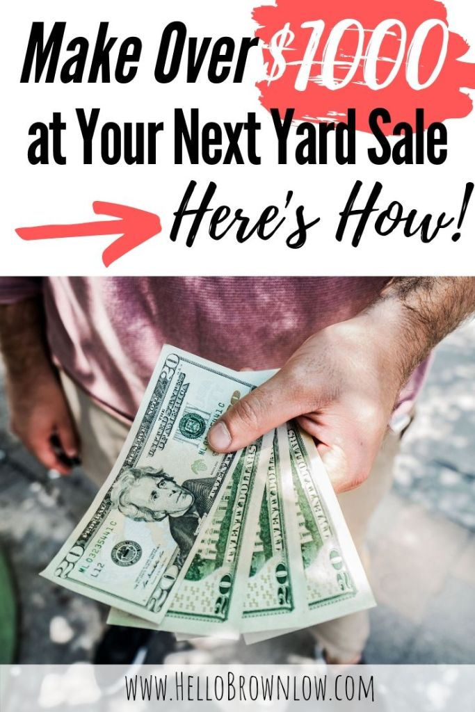 Make Over $1000 at your Next Yard Sale