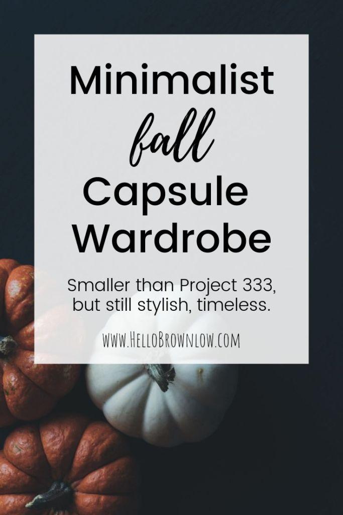 Minimalist Fall Capsule Wardrobe
