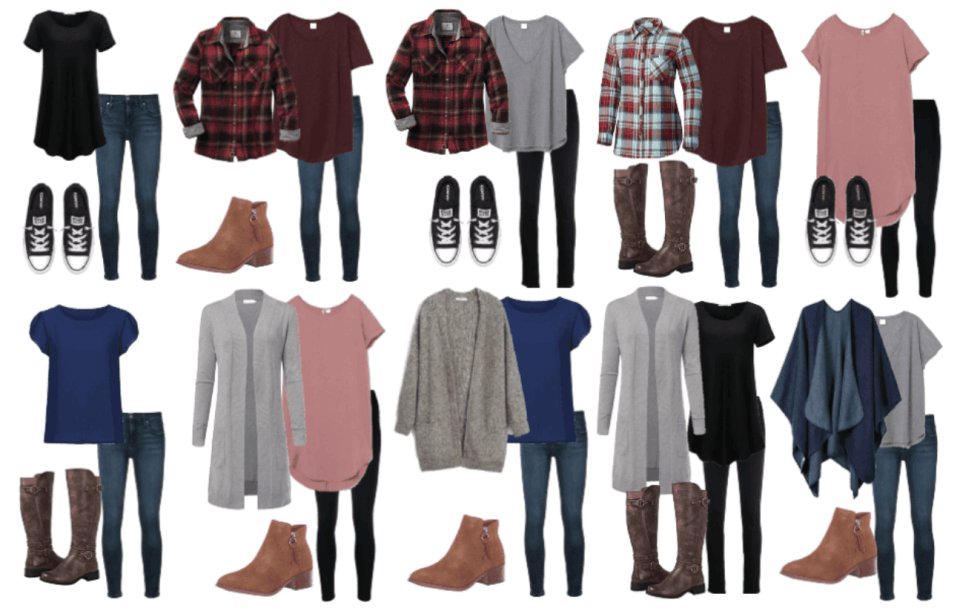 Fall outfits 1-10 of the minimalist fall capsule wardrobe