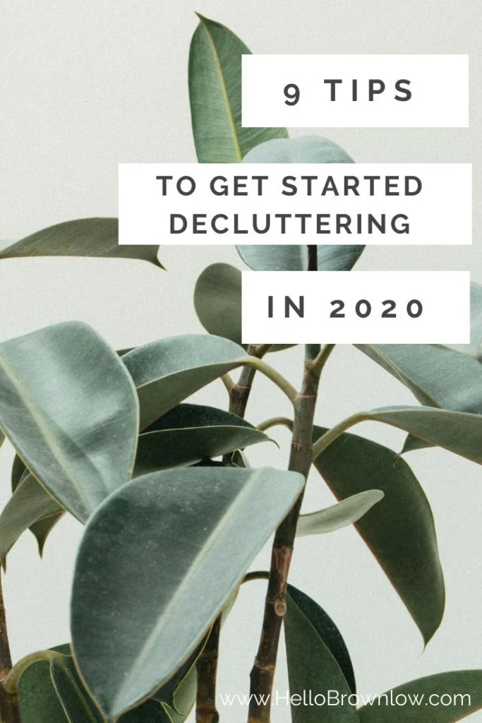 9 Tips to Get Started Decluttering - Get the push you need to stat on your decluttering journey and embrace a life with less stuff. #decluttering #less
