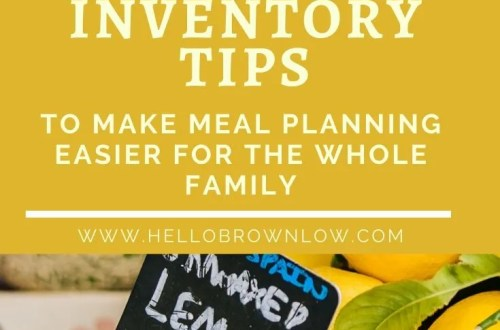 Pantry Inventory Tips