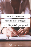 how to create a minimalist budget #budgeting #minimalistbudget