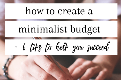 how to create a minimalist budget #budgeting #minimalistbudget