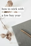 How to Stick with a Low Buy Year