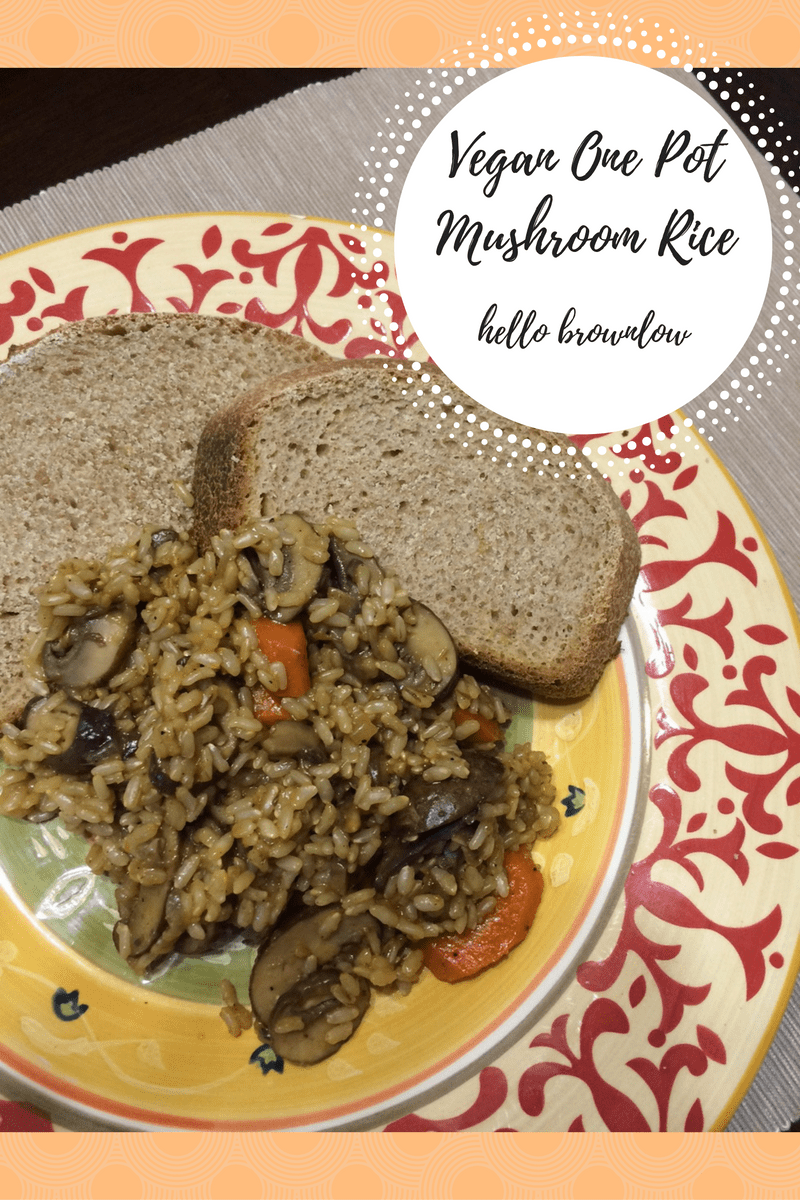 Vegan  One Pot Mushroom Rice