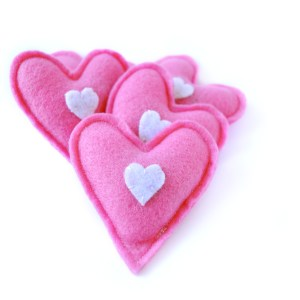 Pink Colored Heart Cat Toy