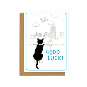 Cat and mouse greetings card
