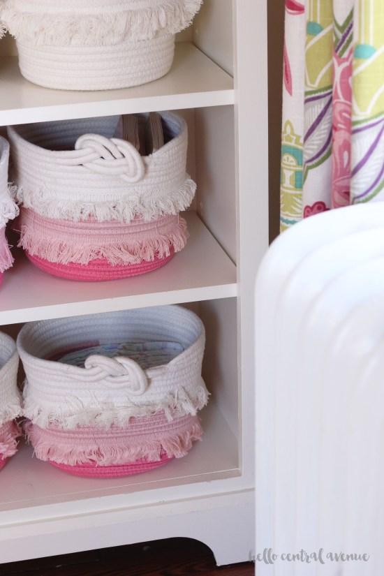 Pink and aqua girl nursery
