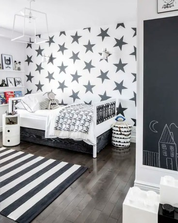 Stars and Stripes black/white decor from Sissy and Marley kids spaces
