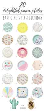 Delightful Paper Plates for Girl's Birthday!