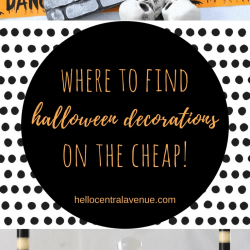 Halloween Decorations on the Cheap