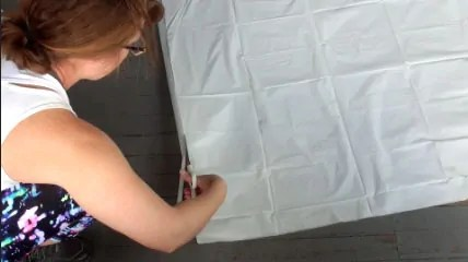 DIY Dollar Store Shower Curtain Spider Web