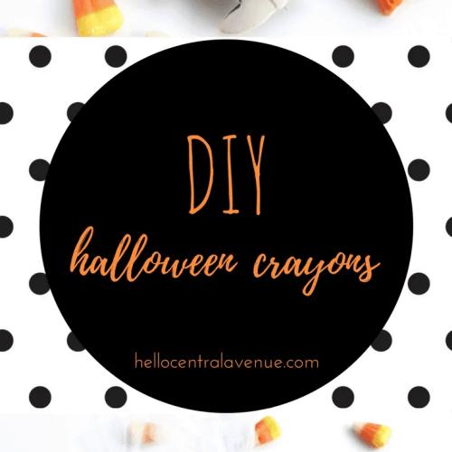 Easy Halloween favors-DIY Halloween crayons