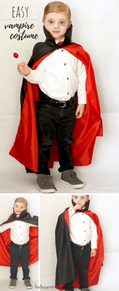 EASY and CHEAP KIds Vampire Halloween Costume