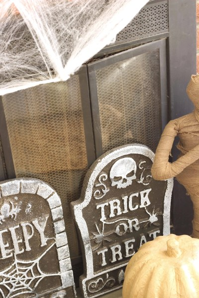 Cheap Halloween Decorations-pumpkins, skeletons, signs, candles