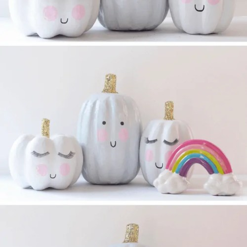 DIY-Cloud Inspired Pumpkins