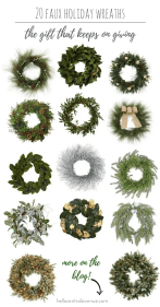 20 Faux Holiday Wreaths-The Gift That Keeps on Giving