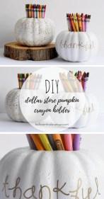 DIY Dollar Store Pumpkin Crayon Holder