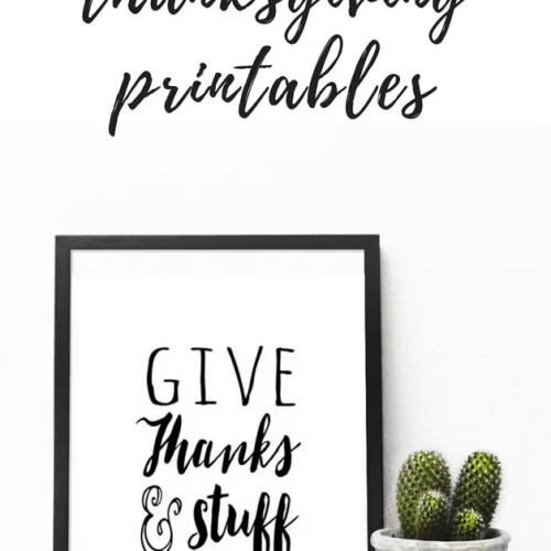 FREE Unique and fun Thanksgiving printables