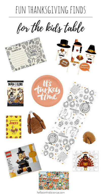 Fun Finds for the kids thanksgiving table-screen free actiivities